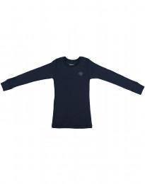 Kinder shirt gemaakt van Bio Merinowol dusty blue