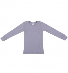 Kinder shirt gemaakt van BIO merinowol lila