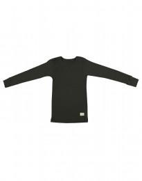 Kinder shirt gemaakt van BIO Merinowol donkergroen