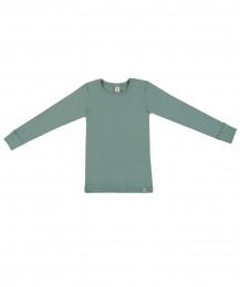 Kinder shirt gemaakt van BIO merinowol lichtgroen