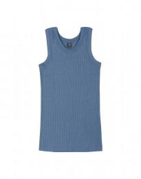 Geribd kinderhemd duifblauw