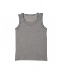 Donkergrijs grijs melange katoenen onderhemd