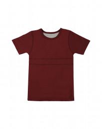 Zacht katoenen T-shirt bordeauxrood