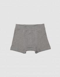 Katoenen boxershorts voor jongens grijs melange
