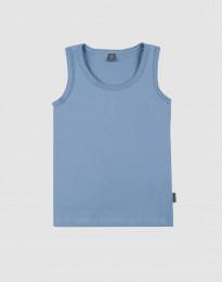 Bio katoenen onderhemd voor kinderen blauw