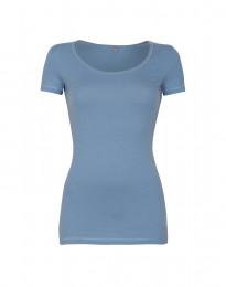 Katoenen dames t-shirt blauw