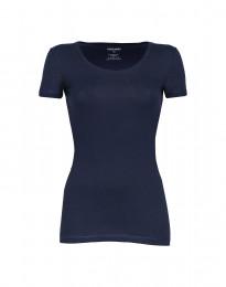 Katoenen dames t-shirt marineblauw