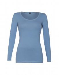 Katoenen dames shirt blauw