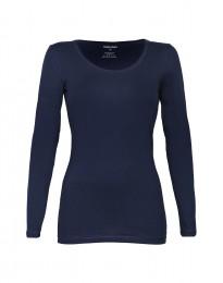 Katoenen dames shirt marineblauw