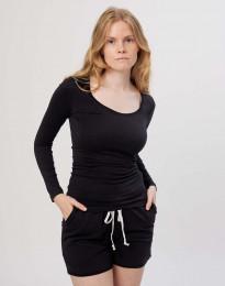 Katoenen dames shirt zwart