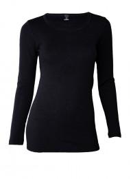 Merinos Dames shirt met lange mouwen zwart