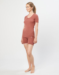 Merino dames shorts rouge