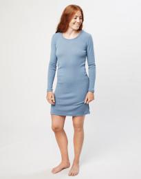 Merino wollen nachthemd met lange mouwen voor dames - Blauw