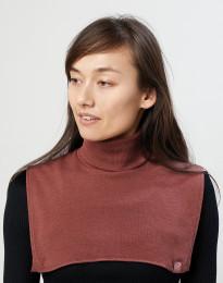 Dames nekwarmer van biologisch merino wol rouge
