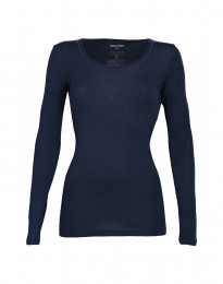Dames trui - BIO Merinowol dusty blue