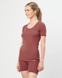 Merino dames T-shirt rouge
