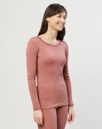 Damestrui - 100% biologisch merino wol Donker roze