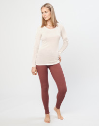 Merino dameslegging rouge