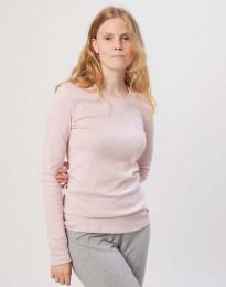 Dames pyjamashirt in katoen roze
