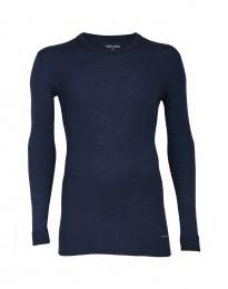 Merinos shirt met lange mouwen voor heren dusty blue