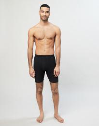 Merinos boxershorts met gulp voor heren zwart
