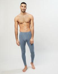 Merinos legging met gulp voor heren blauw gestreept