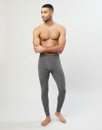 Merino legging met gulp grijs gestreept