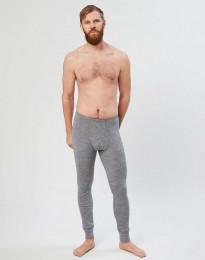 Merinos legging met gulp voor heren grijs