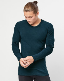 Heren trui van merino wol midnachtsblauw