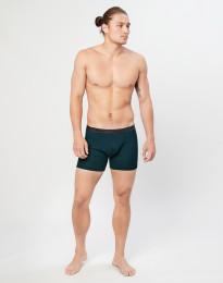 Geribde merino boxershorts marineblauw