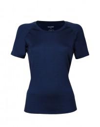 Merinos t-shirt voor dames donkerblauw