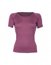 Merinos t-shirt voor dames - exclusieve merinowol violet