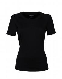 Merinos t-shirt voor dames - exclusieve merinowol zwart