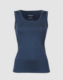 Wollen hemd voor dames donkerblauw