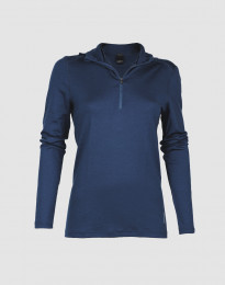 Capuchon-shirt van exclusieve merinowol voor dames donkerblauw