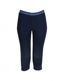 3/4 leggings voor vrouwen - in exclusieve Merinowol donkerblauw