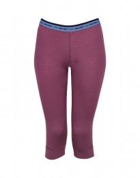 3/4 leggings voor vrouwen - in exclusieve Merinowol Violet