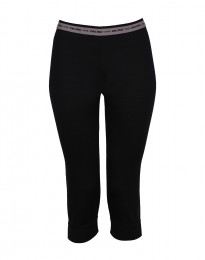 3/4 leggings voor vrouwen - in exclusieve zwarte merino wol