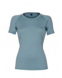 Merinos T-shirt voor dames - exclusieve merinowol mineraalblauw
