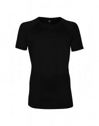 Merinos T-shirt voor heren - exclusieve merinowol zwart