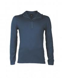 Capuchon shirt van exclusieve merinoswol voor heren donkerblauw