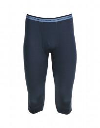 3/4 Heren Legging - exclusieve donkerblauwe Merinowol