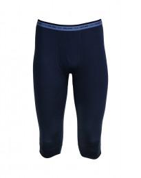 3/4 Heren Legging - In exclusieve donkerblauwe Merinowol