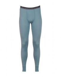 Leggings met gulp - exclusieve merinowol mineraalblauw