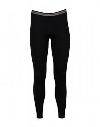 Leggings met gulp - exclusieve merinowol zwart