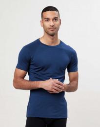 Merinos t-shirt voor heren - exclusieve merinowol donkerblauw