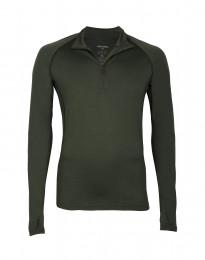 Mannen trui met rits - exclusieve merinowol groen