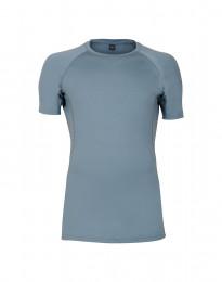 Merinos T-shirt voor heren - exclusieve merinowol mineraalblauw