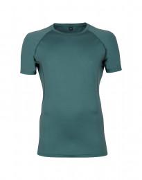 Merinos T-shirt voor heren - exclusieve merinowol groen-blauw