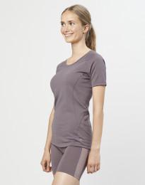 Dames T-shirt - exclusieve biologische merino wol lavendelgrijs